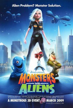 poster Monsters vs. Aliens